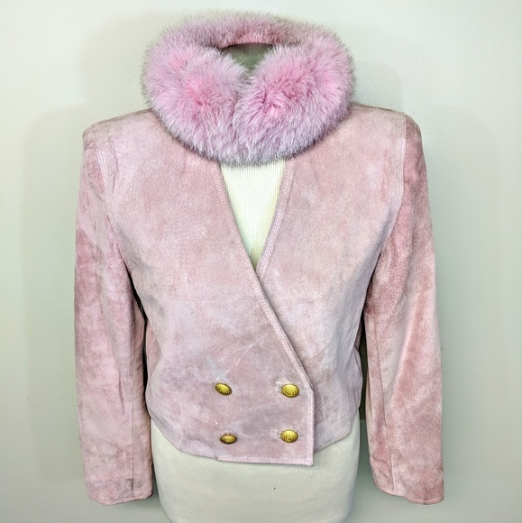 Lord & Taylor Jackets & Blazers - Cropped Pink Suede Jacket